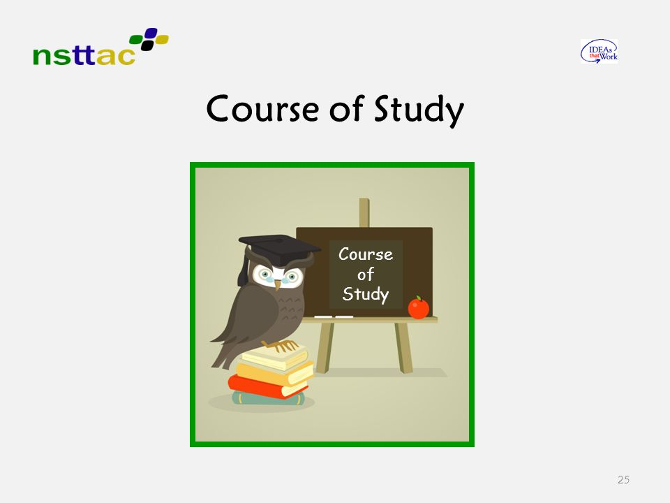 25 Course of Study