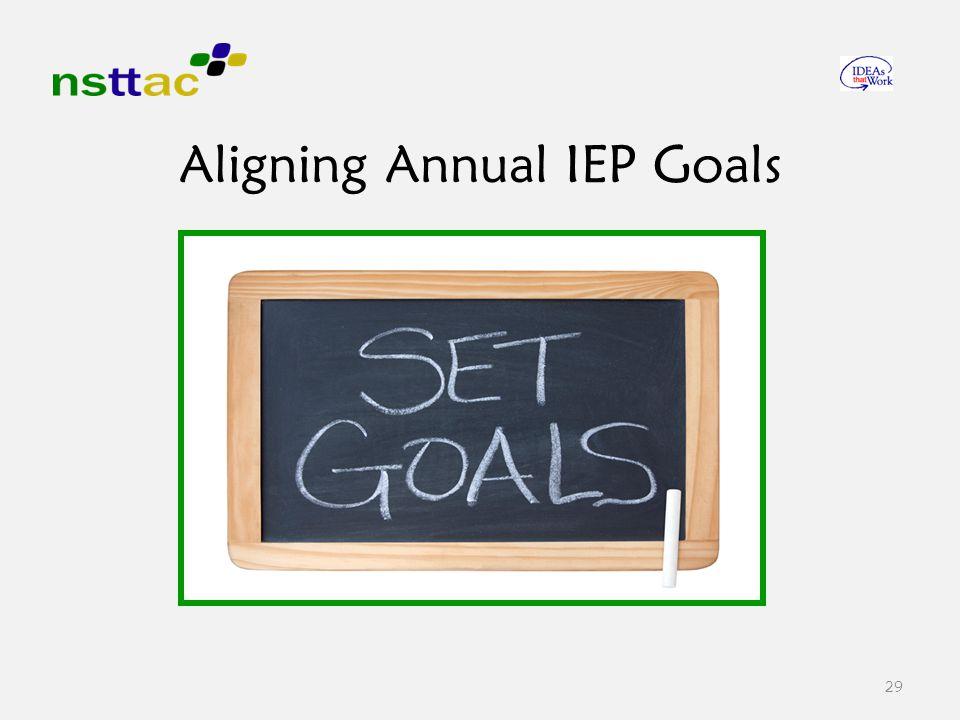 29 Aligning Annual IEP Goals