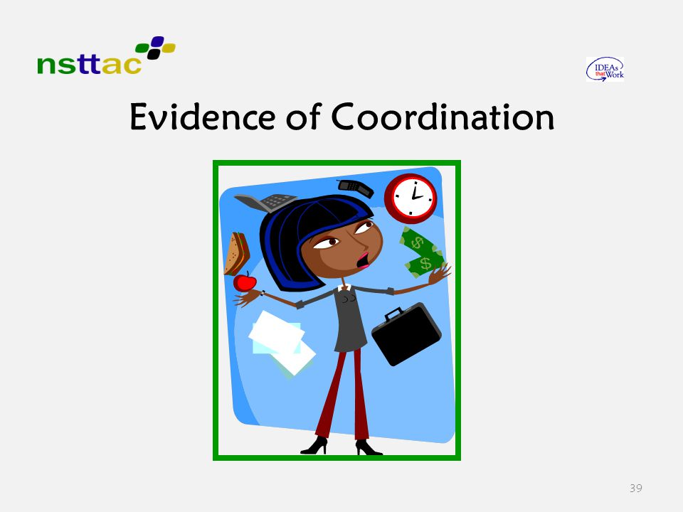 39 Evidence of Coordination