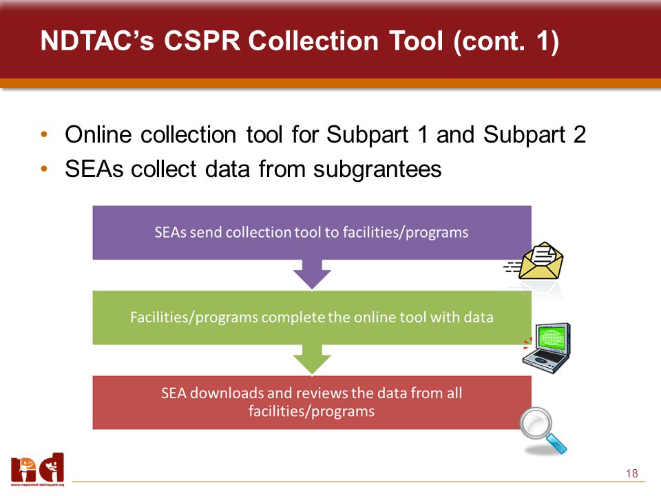 18 NDTAC's CSPR Collection Tool (cont.
