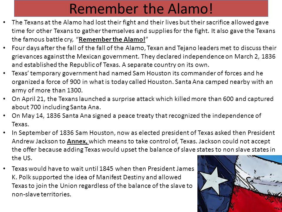 Remember the Alamo.