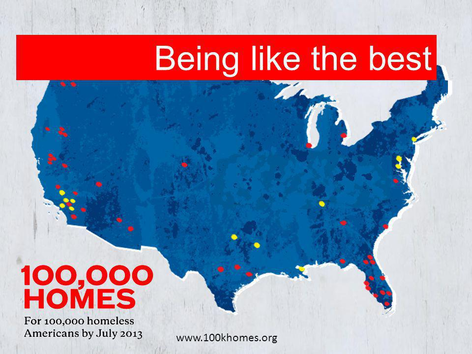 www.100khomes.org Being like the best
