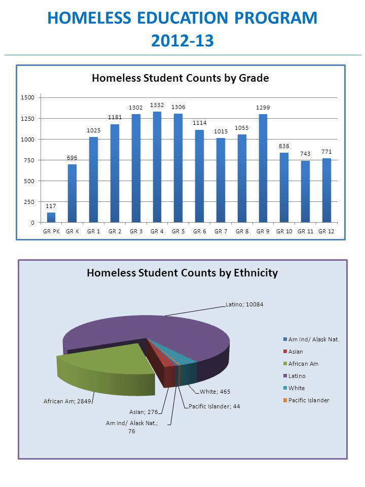 HOMELESS EDUCATION PROGRAM 2012-13