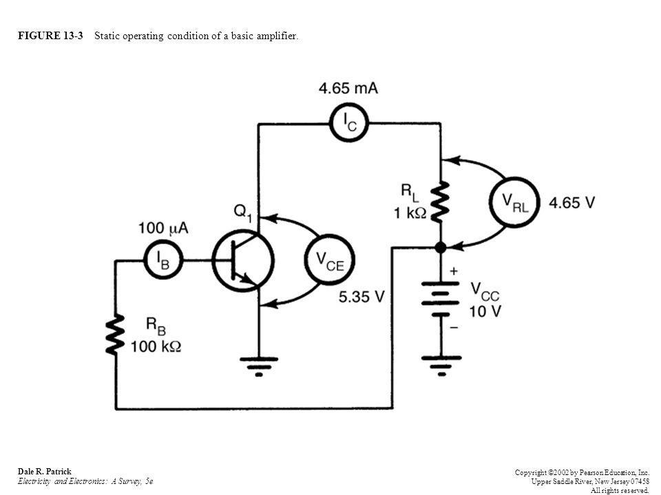 FIGURE 13-3 Static operating condition of a basic amplifier.