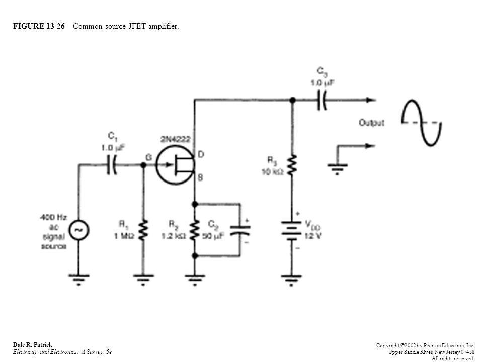 FIGURE 13-26 Common-source JFET amplifier. Dale R.
