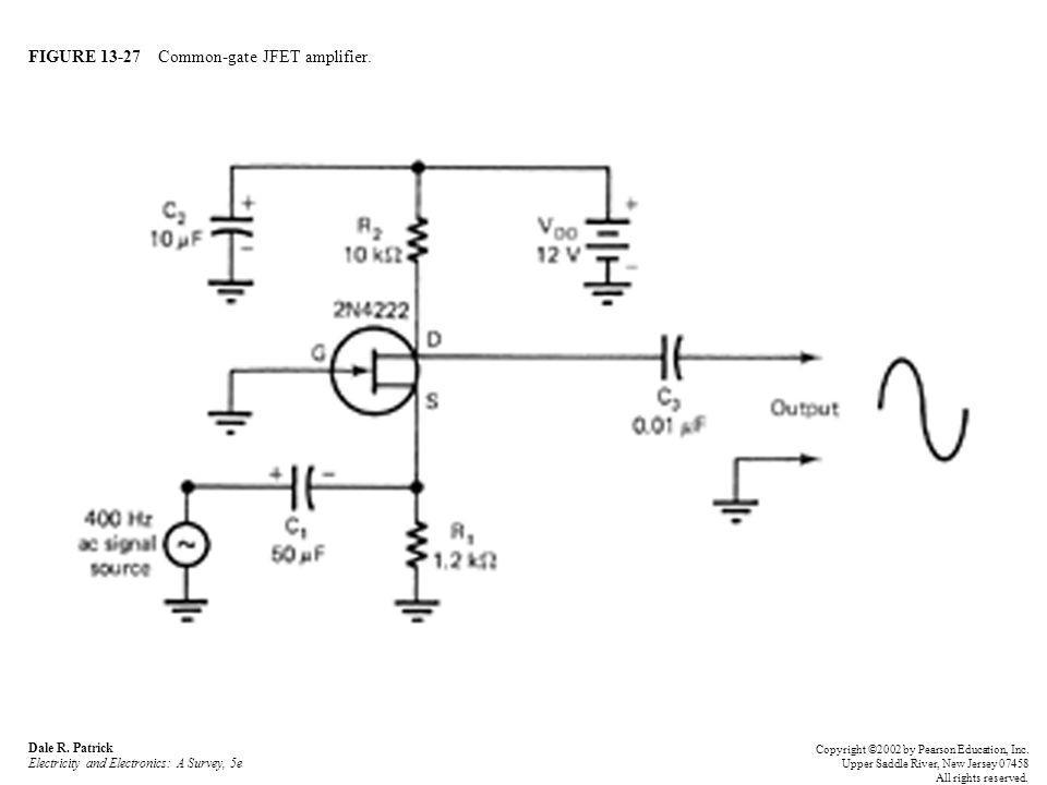 FIGURE 13-27 Common-gate JFET amplifier. Dale R.