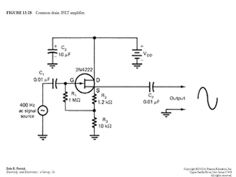 FIGURE 13-28 Common-drain JFET amplifier. Dale R.