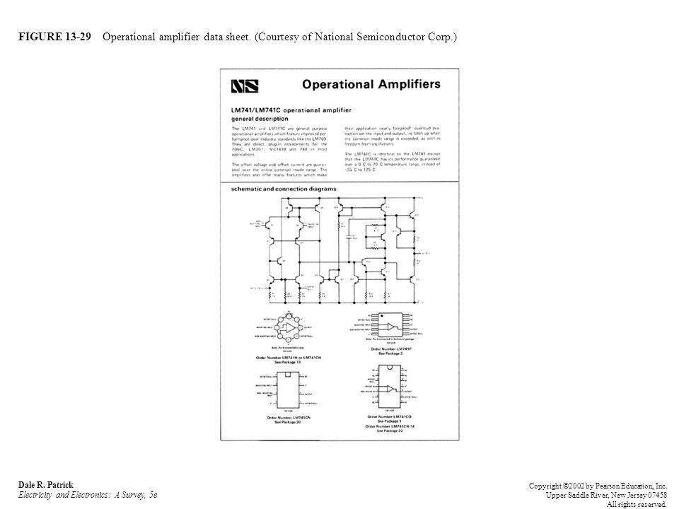 FIGURE 13-29 Operational amplifier data sheet. (Courtesy of National Semiconductor Corp.) Dale R.