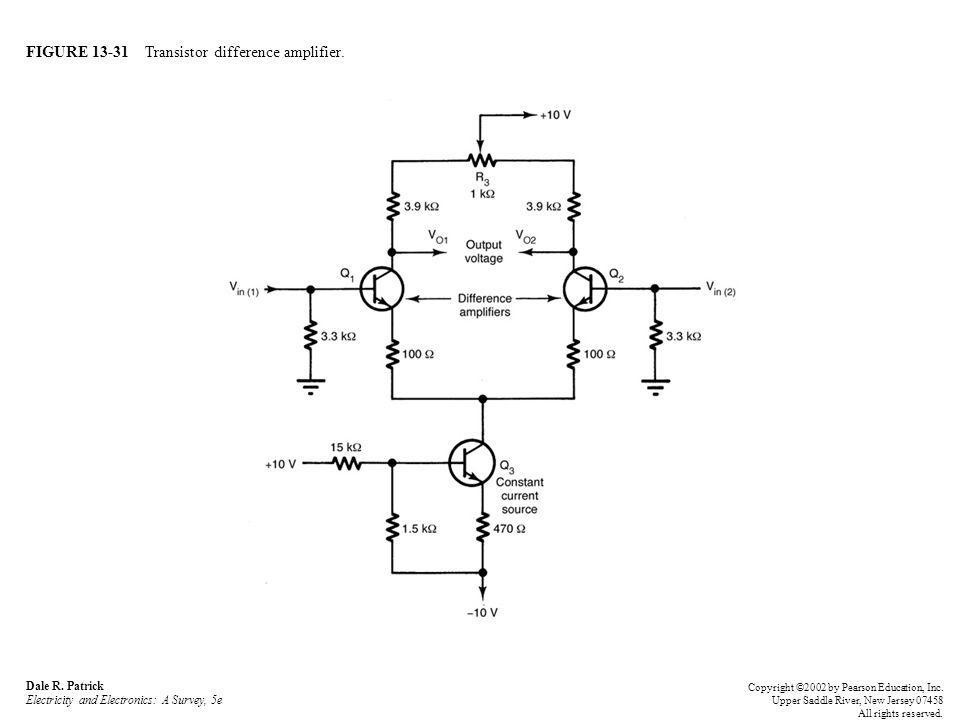 FIGURE 13-31 Transistor difference amplifier. Dale R.