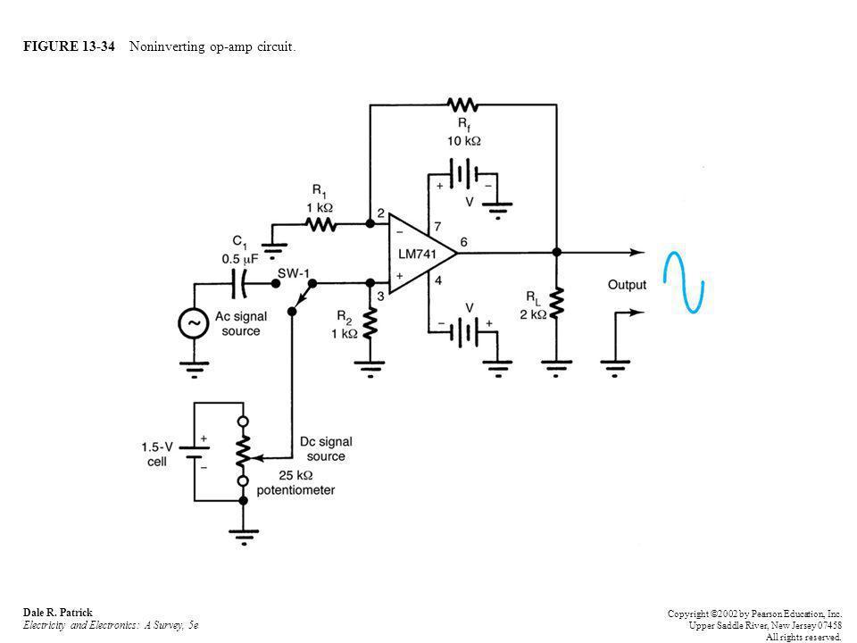FIGURE 13-34 Noninverting op-amp circuit. Dale R.