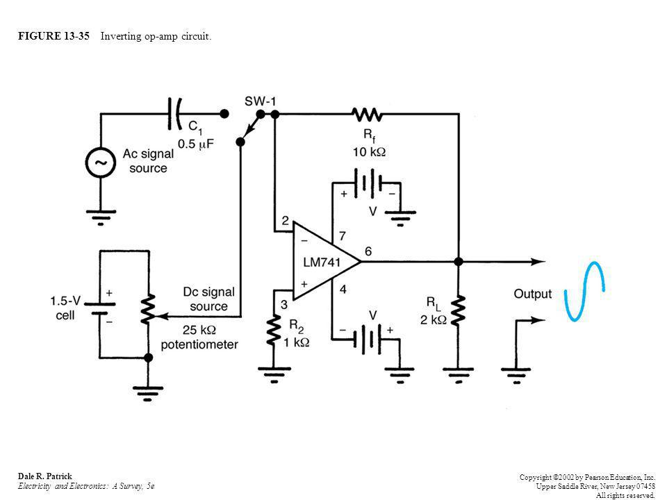 FIGURE 13-35 Inverting op-amp circuit. Dale R.