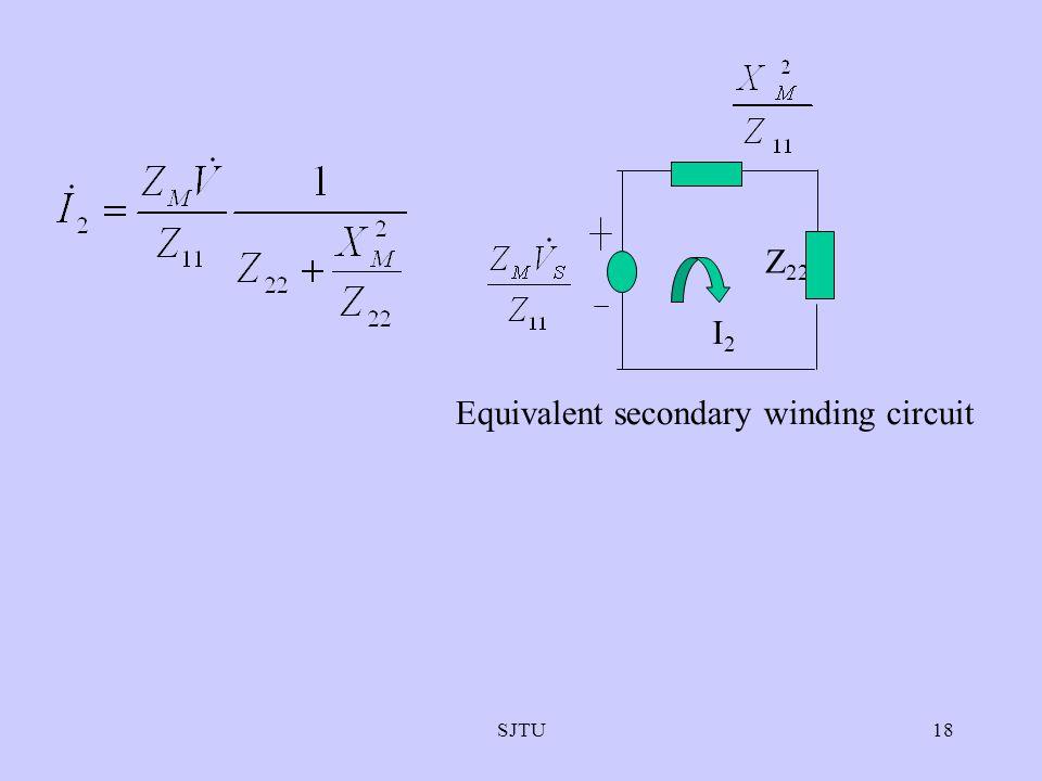 SJTU18 Z 22 I2I2 Equivalent secondary winding circuit