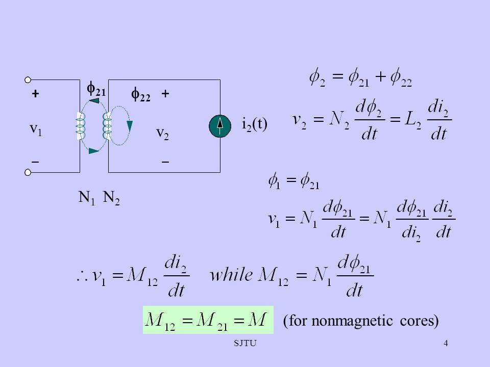 SJTU4  22  21 N2N2 N1N1 v2v2 v1v1 i 2 (t) (for nonmagnetic cores)