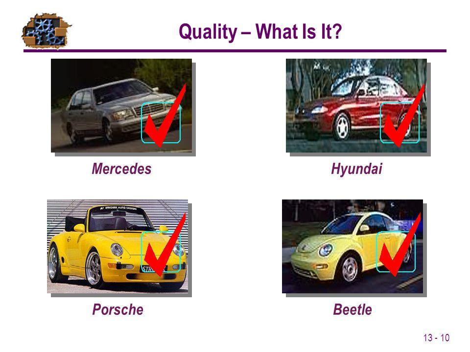 13 - 10 MercedesHyundaiPorscheBeetle Quality – What Is It?