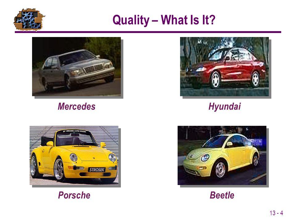 13 - 4 MercedesHyundaiPorscheBeetle Quality – What Is It?