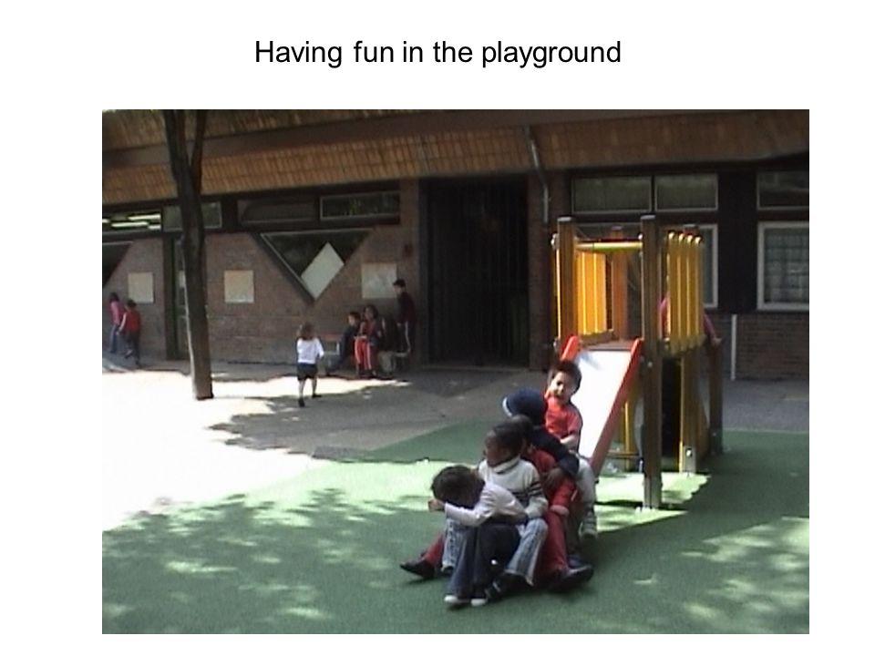 Having fun in the playground