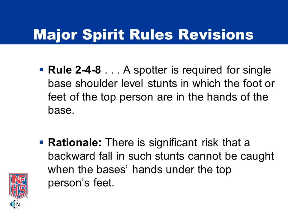 Major Spirit Rules Revisions  Rule 2-4-8...