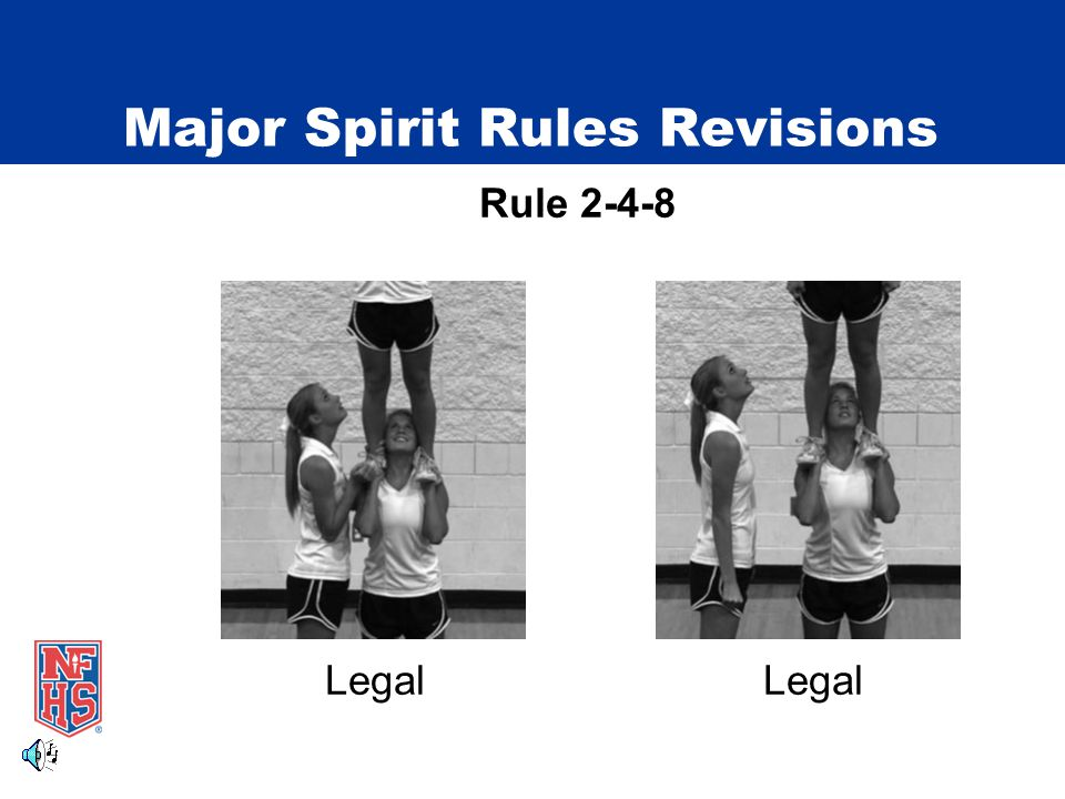 Major Spirit Rules Revisions Rule 2-4-8 Legal Legal