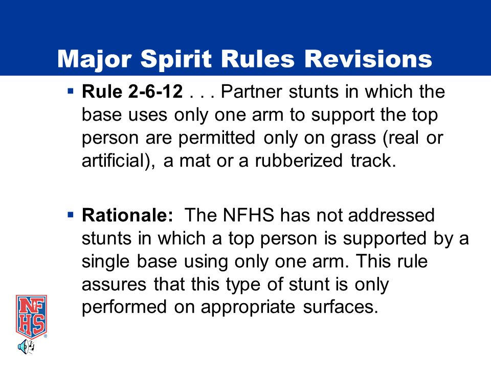 Major Spirit Rules Revisions  Rule 2-6-12...