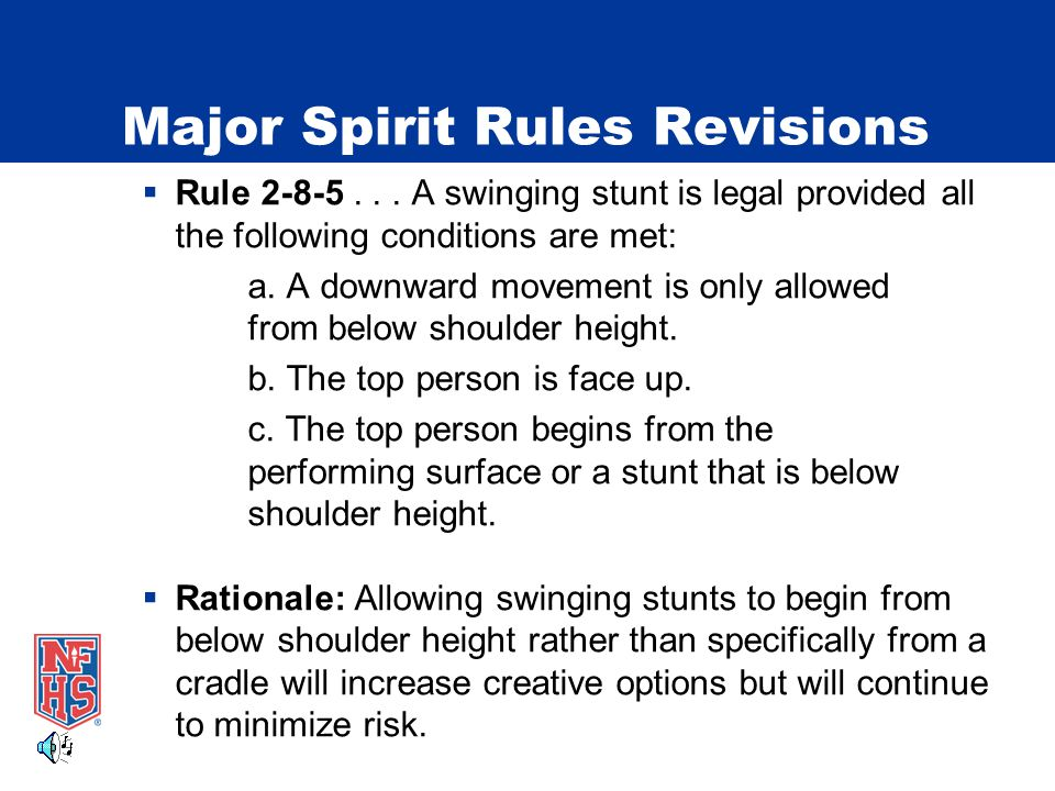 Major Spirit Rules Revisions  Rule 2-8-5...