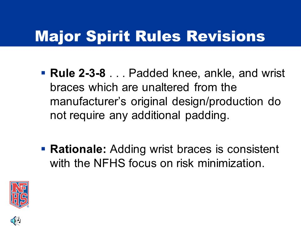 Major Spirit Rules Revisions Rule 2-5-2 1 2 3 Illegal