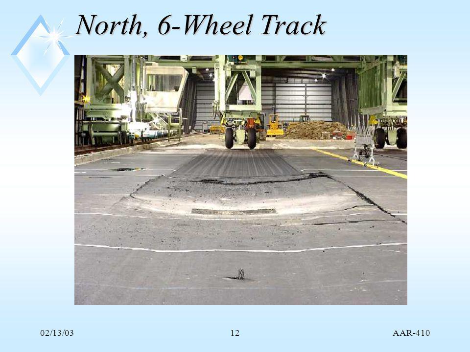 AAR-410 02/13/0312 North, 6-Wheel Track