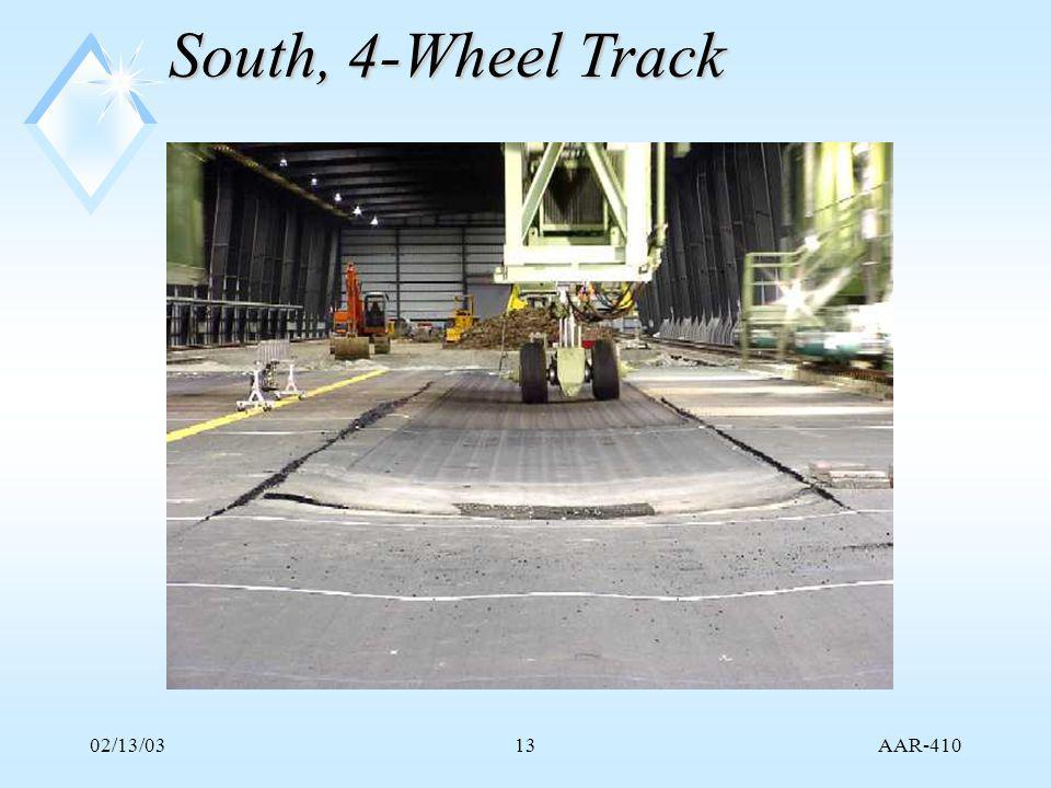AAR-410 02/13/0313 South, 4-Wheel Track