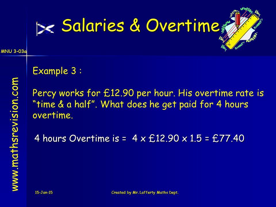 MNU 3-03a 15-Jan-15Created by Mr. Lafferty Maths Dept.