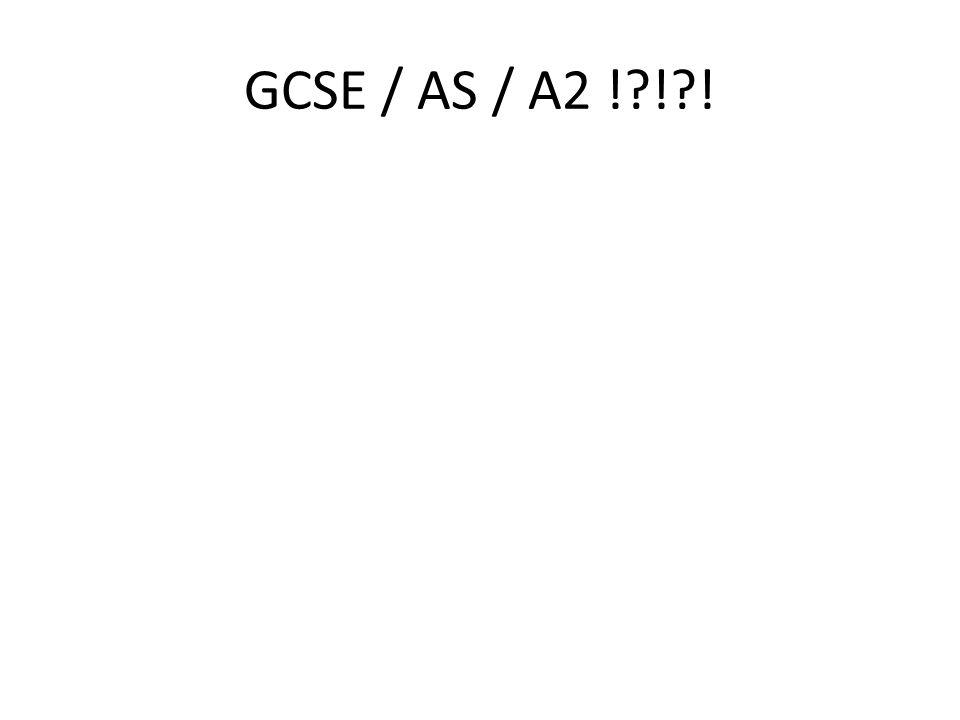 GCSE / AS / A2 ! ! !