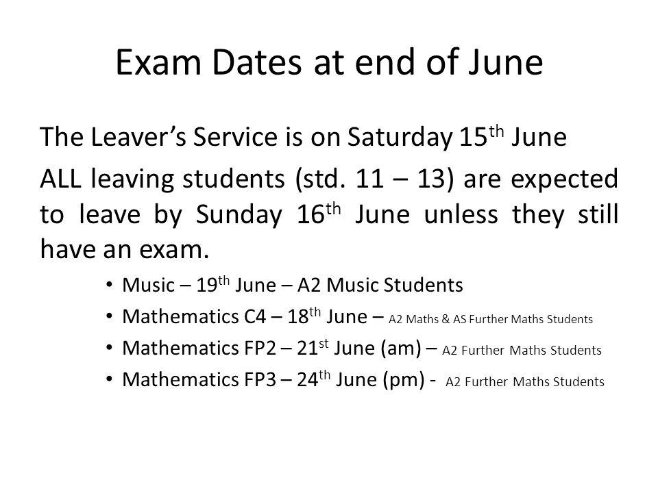 University Applications June Std.