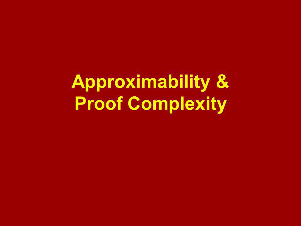 Approximability & Proof Complexity