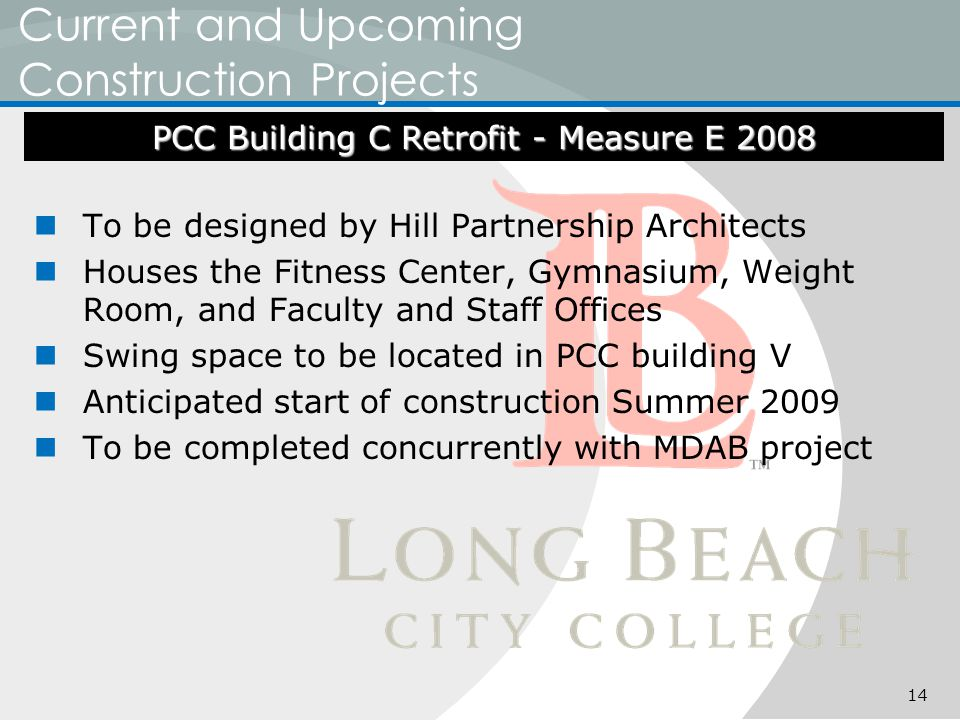 Current and Upcoming Construction Projects To be designed by Hill Partnership Architects Houses the Fitness Center, Gymnasium, Weight Room, and Facult