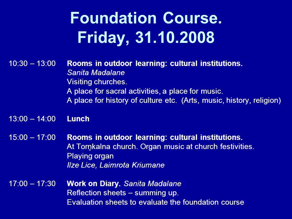 Foundation Course.