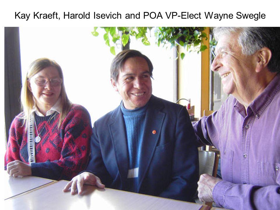 Kay Kraeft, Harold Isevich and POA VP-Elect Wayne Swegle