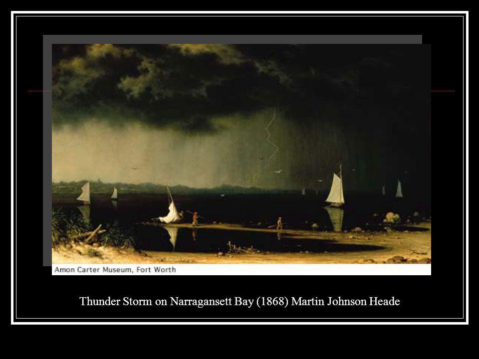 Thunder Storm on Narragansett Bay (1868) Martin Johnson Heade