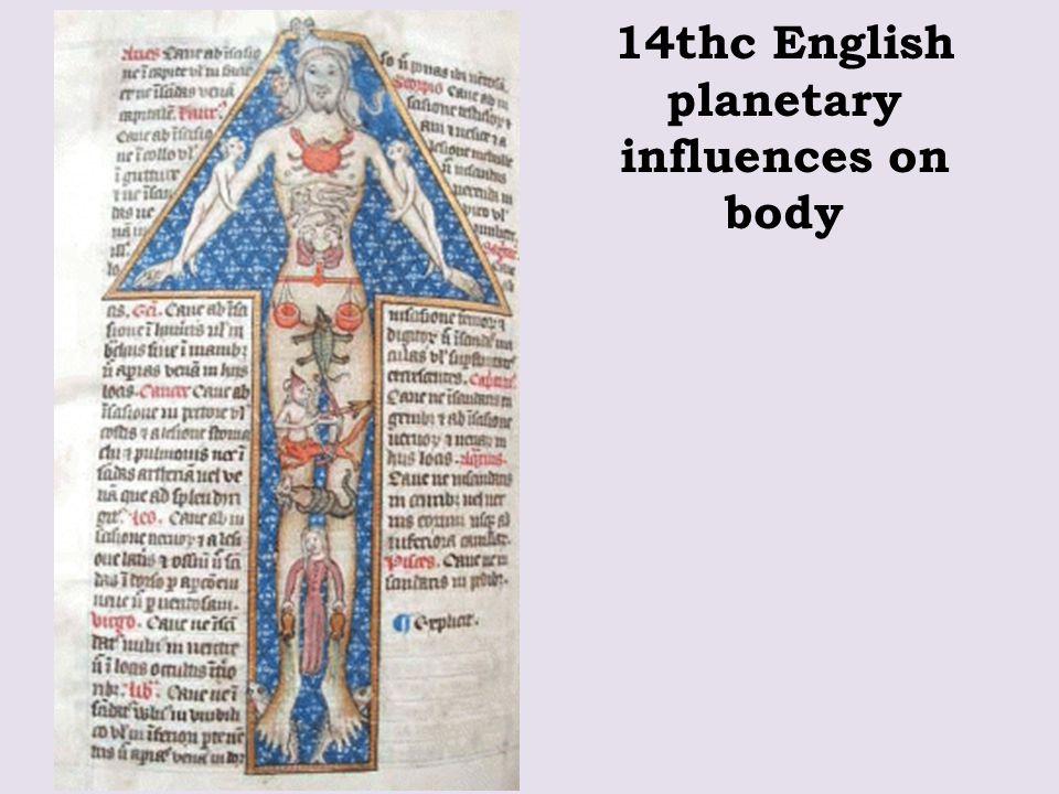 14thc English planetary influences on body