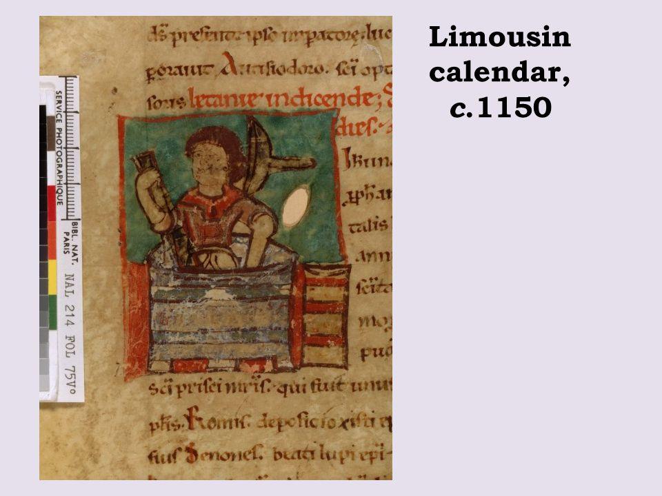 Limousin calendar, c.1150