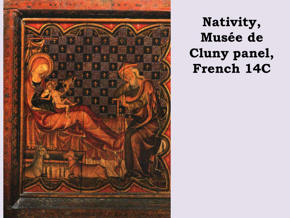 Nativity, Musée de Cluny panel, French 14C