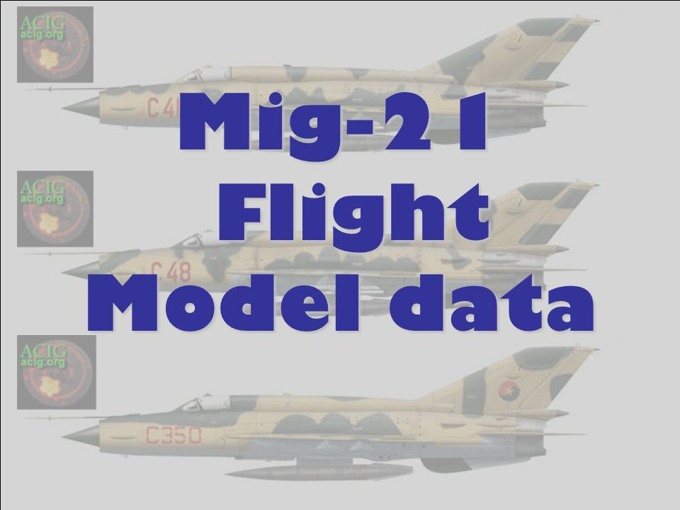 Mig-21 Flight Model data