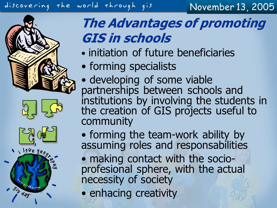November 13, 2005 How can we get inside the GIS world.