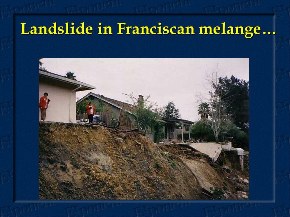 Landslide in Franciscan melange…