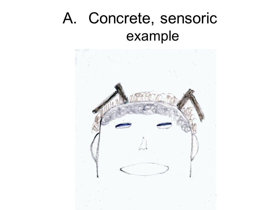 A.Concrete, sensoric example