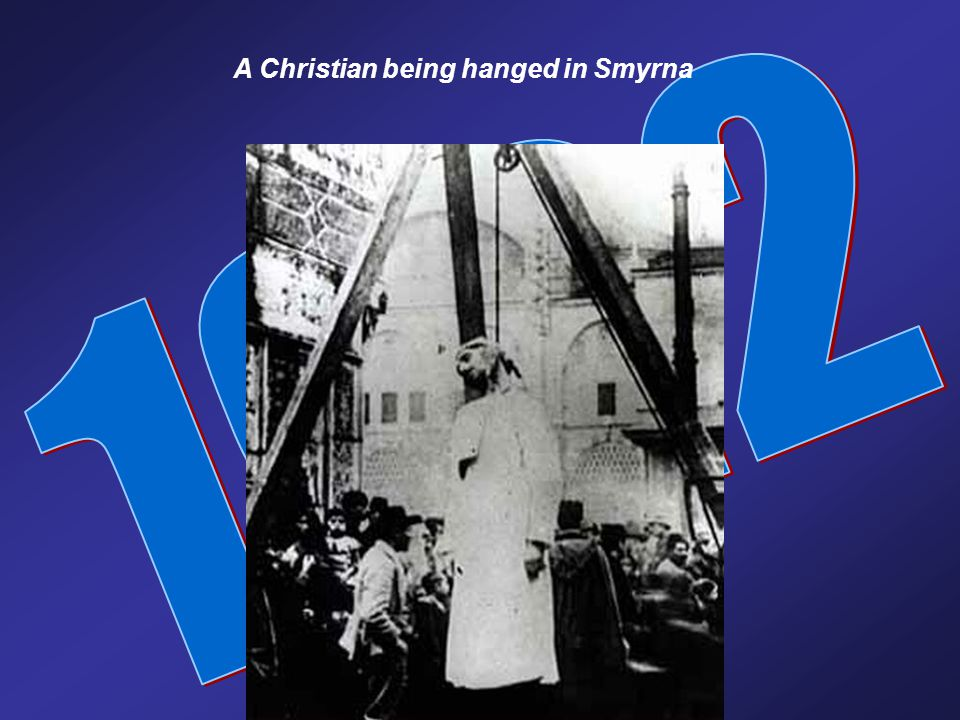 A Christian being hanged in Smyrna