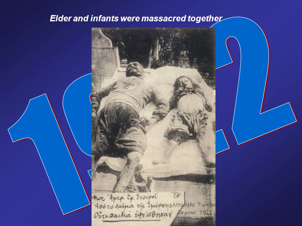 Elder and infants were massacred together