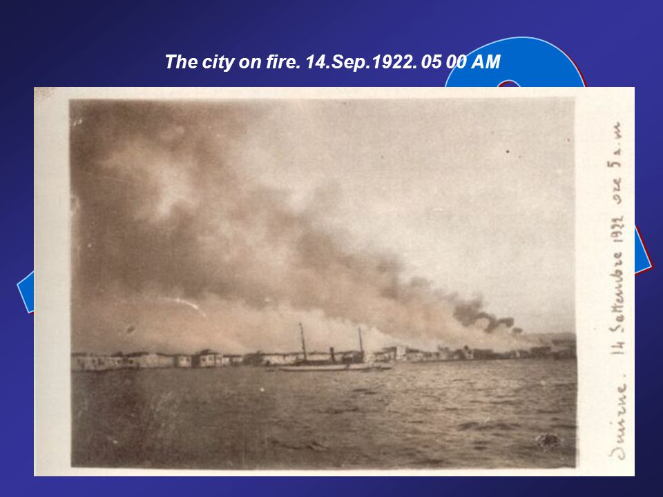 The city on fire. 14.Sep.1922. 05 00 AM