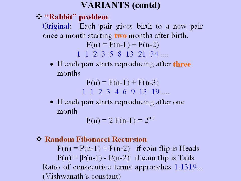 VARIANTS (contd)