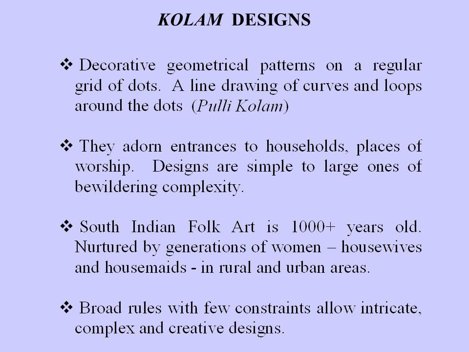 KOLAM DESIGNS