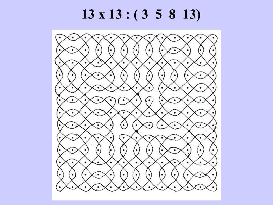 13 x 13 : ( 3 5 8 13)