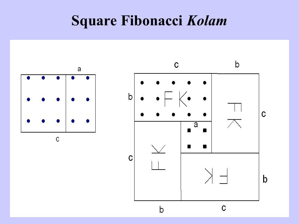 Square Fibonacci Kolam