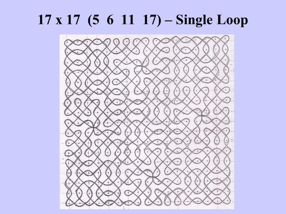 17 x 17 (5 6 11 17) – Single Loop